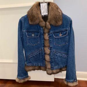 Fur Salon of Saks Fifth Avenue Jean Jacket